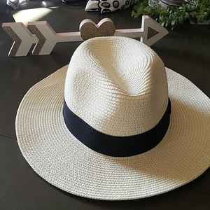 Beige Hat with black trim